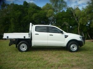 2015 Ford Ranger PX MkII XL Double Cab White 6 Speed Manual Cab Chassis Townsville Townsville City Preview