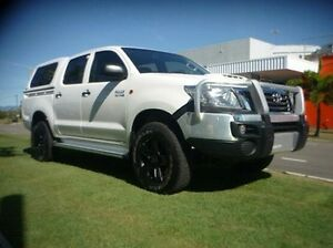 2014 Toyota Hilux KUN26R MY14 SR Double Cab White 5 Speed Manual Utility Townsville Townsville City Preview
