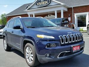 2016 Jeep Cherokee Limited 4WD, Leather Heated Seats, Bluetooth,