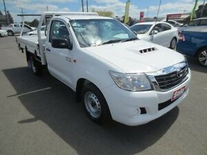 2012 Toyota Hilux KUN16R MY12 SR White 5 Speed Manual Cab Chassis Coolaroo Hume Area Preview