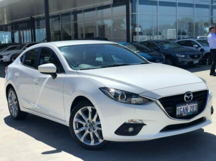 2014 Mazda 3 BM5236 SP25 SKYACTIV-MT White 6 Speed Manual Sedan Palmyra Melville Area Preview