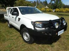 2012 Ford Ranger PX XL Double Cab White 6 Speed Manual Cab Chassis Derwent Park Glenorchy Area Preview