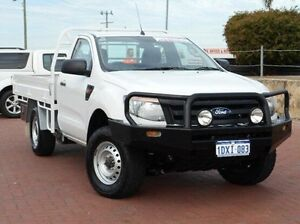2012 Ford Ranger PX XL White 6 Speed Manual Cab Chassis Spearwood Cockburn Area Preview