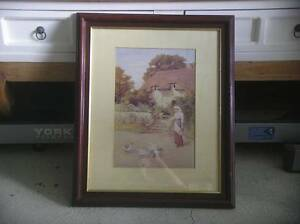 OLD COTTAGE PRINT - FRAMED BEHIND GLASS Yanchep Wanneroo Area Preview
