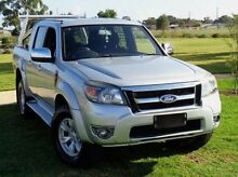 2010 Ford Ranger PK XLT Crew Cab Silver 5 Speed Manual Utility Elizabeth Playford Area Preview