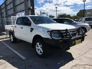 2012 Ford Ranger PX XL Double Cab White 6 Speed Manual Cab Chassis Seaford Frankston Area Preview