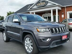 2017 Jeep Grand Cherokee Limited 4x4, Leather Heated Seats, NAV,