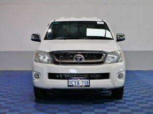 2008 Toyota Hilux GGN15R 08 Upgrade SR5 White 5 Speed Automatic Dual Cab Pick-up