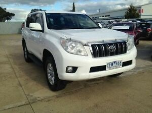 2011 Toyota Landcruiser Prado KDJ150R 11 Upgrade GX (4x4) Glacier White 6 Speed Manual Wagon Melton Melton Area Preview