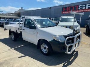 2013 Toyota Hilux TGN16R MY14 Workmate 4x2 White 4 Speed Automatic Cab Chassis Granville Parramatta Area Preview