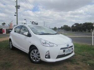 2013 Toyota Prius c NHP10R Hybrid Glacier White Continuous Variable Hatchback Melton Melton Area Preview