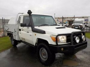 2007 Toyota Landcruiser  White Manual Cab Chassis Pakenham Cardinia Area Preview