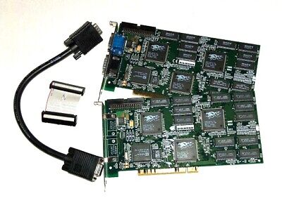 3Dfx PCI Classic - SLI KIT Diamond Monster 3D II - 3Dfx Voodoo 2 - Retro Gaming, used for sale  Shipping to South Africa