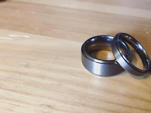 NEW Beautiful Tungsten Matching Wedding Band Set - His & Hers