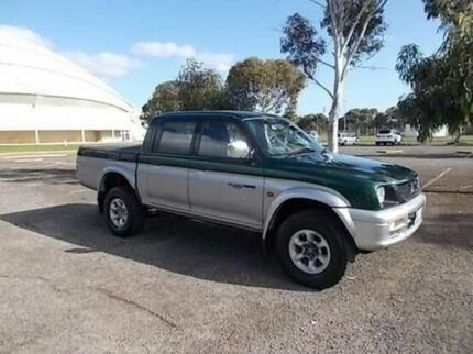1999 Mitsubishi Triton MK GLS Double Cab Deep Green 4 Speed Automatic Utility Gepps Cross Port Adelaide Area Preview