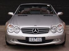 2004 Mercedes-Benz SL350 R230 MY05 Silver 5 Speed Auto Seq Sportshift Roadster Southbank Melbourne City Preview