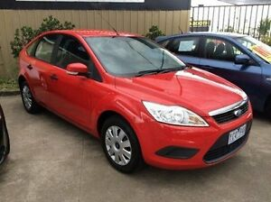 2010 Ford Focus LV CL Red 5 Speed Manual Hatchback Maidstone Maribyrnong Area Preview