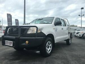 2011 Toyota Hilux KUN26R MY12 Workmate Double Cab White 5 Speed Manual Utility West Mackay Mackay City Preview