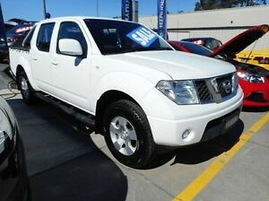 2010 Nissan Navara D40 ST White 6 Speed Manual Utility Pennant Hills Hornsby Area Preview