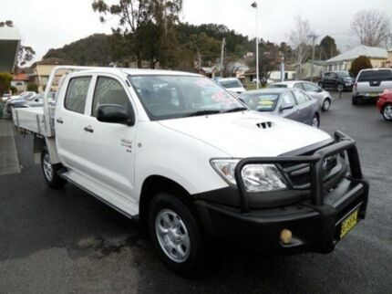 2010 Toyota Hilux KUN16R MY10 SR Glacier White 5 Speed Manual Utility Vale Of Clwydd Lithgow Area Preview