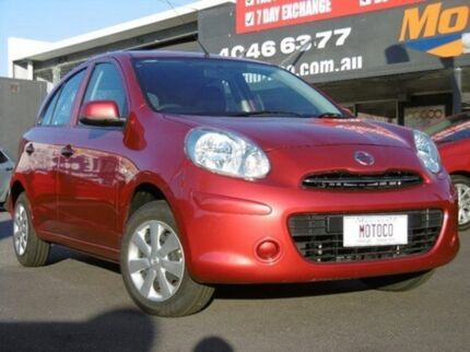 2013 Nissan Micra K13 MY13 ST Red 4 Speed Automatic Hatchback Bungalow Cairns City Preview