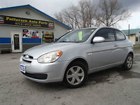 2007 Hyundai Accent Coupe CERT E-TESTED $4995 ONLY 118K