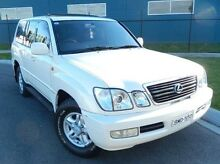1999 Lexus LX470 100 (4x4) White 4 Speed Automatic Wagon Meadow Heights Hume Area Preview