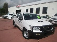 2012 Toyota Hilux KUN16R MY12 SR Double Cab White 5 Speed Manual Utility Rockdale Rockdale Area Preview