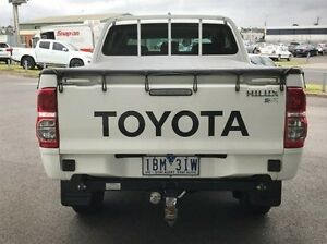 2013 Toyota Hilux KUN26R MY14 SR Double Cab White 5 Speed Automatic Utility Morwell Latrobe Valley Preview