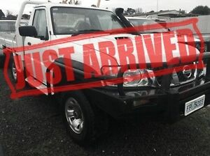 2007 Nissan Patrol GU 6 MY08 ST White 5 Speed Manual Cab Chassis Derwent Park Glenorchy Area Preview