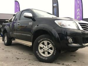 2013 Toyota Hilux KUN26R MY12 SR5 Xtra Cab Black 5 Speed Manual Utility Invermay Launceston Area Preview