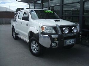 2006 Toyota Hilux KUN26R MY07 SR White 5 Speed Manual Utility Invermay Launceston Area Preview
