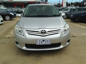 2011 Toyota Corolla ZRE152R MY11 Ascent Silver Pearl 6 Speed Manual Hatchback Melton Melton Area Preview