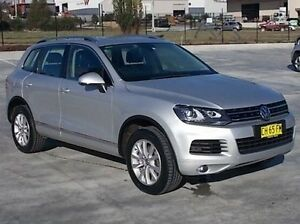 2013 Volkswagen Touareg 7P MY13 150TDI Tiptronic 4MOTION Silver 8 Speed Sports Automatic Wagon Mitchell Bathurst City Preview