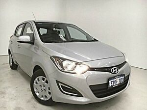 2015 Hyundai i20 PB MY16 Active Silver 4 Speed Automatic Hatchback Edgewater Joondalup Area Preview