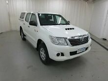 2013 Toyota Hilux KUN26R MY12 SR Double Cab White 5 Speed Manual Utility Glebe Hobart City Preview