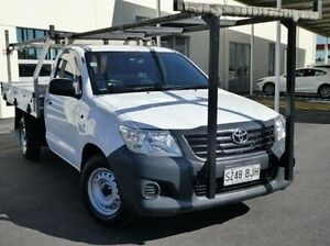 2012 Toyota Hilux TGN16R MY12 Workmate White 4 Speed Automatic Cab Chassis Green Fields Salisbury Area Preview