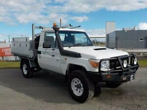 2008 Toyota Landcruiser White Manual Cab Chassis Pakenham Cardinia Area Preview