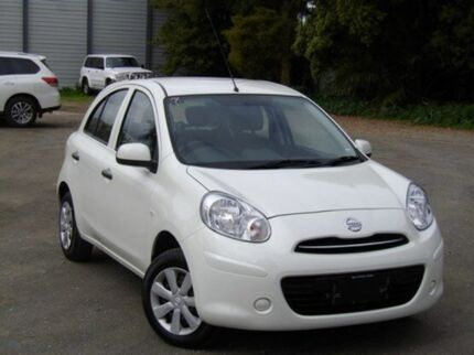 2014 Nissan Micra K13 MY13 ST Geneva White 4 Speed Automatic Hatchback Morphett Vale Morphett Vale Area Preview