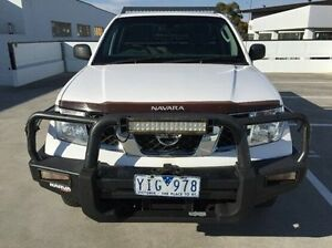 2011 Nissan Navara D40 S6 MY12 RX White 6 Speed Manual Cab Chassis Mornington Mornington Peninsula Preview