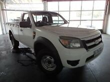 2010 Ford Ranger PK XL Crew Cab White 5 Speed Automatic Utility Derwent Park Glenorchy Area Preview