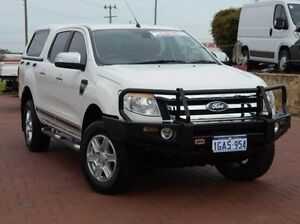 2012 Ford Ranger PX XLT Double Cab White 6 Speed Manual Utility Spearwood Cockburn Area Preview
