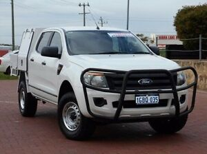 2012 Ford Ranger PX XL Double Cab White 6 Speed Manual Cab Chassis Spearwood Cockburn Area Preview