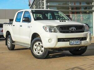 2011 Toyota Hilux KUN26R MY10 SR White 5 Speed Manual Utility Belconnen Belconnen Area Preview