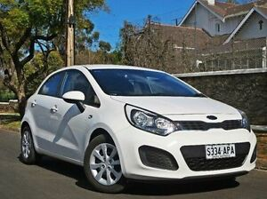 2011 Kia Rio JB MY11 S White 5 Speed Manual Hatchback Thorngate Prospect Area Preview