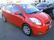 2010 Toyota Yaris NCP91R MY10 YRS Red 5 Speed Manual Hatchback Blackburn Whitehorse Area Preview