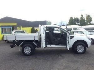 2012 Ford Ranger PX XL Super Cab White 6 Speed Manual Cab Chassis Moorabbin Kingston Area Preview
