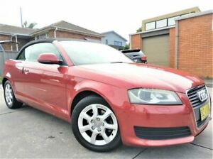 2008 Audi A3 8P Attraction S Tronic Red 6 Speed Sports Automatic Dual Clutch Convertible Five Dock Canada Bay Area Preview