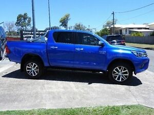 2015 Toyota Hilux GUN126R SR5 Double Cab Blue 6 Speed Sports Automatic Utility Morningside Brisbane South East Preview