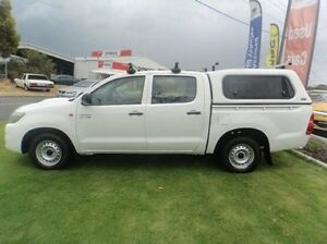 2012 Toyota Hilux KUN16R MY12 SR Double Cab White 5 Speed Manual Utility Mandurah Mandurah Area Preview
